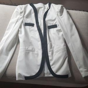 Jackets & Blazers - White and black blazer